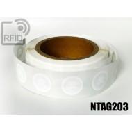 Etichette RFID Diam. 18 mm NFC NTAG203 1