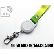 Porta badge BLE lanyard 13,56 MHz 1K 14443 A ISO