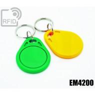 Portachiavi tag RFID piatto EM4200 1