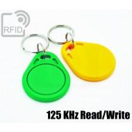 Portachiavi tag RFID piatto Read/Write 125 Khz