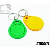 Portachiavi tag RFID piatto ATA5577 1