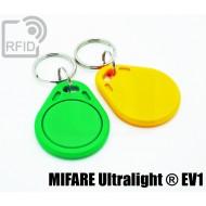 Portachiavi tag RFID piatto NFC MIFARE Ultralight ® EV1 1
