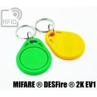 Portachiavi tag RFID piatto NFC MIFARE ® DESFire ® 2K EV1 1
