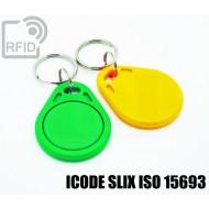 Portachiavi tag RFID piatto ICODE SLIX ISO 15693 1