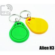 Portachiavi tag RFID piatto Alien H3 1