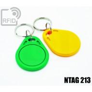 Portachiavi tag RFID piatto NFC NTAG213 1