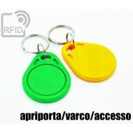 Portachiavi tag RFID piatto apriporta/varco/accesso 1