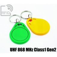Portachiavi tag RFID piatto UHF 868 MHz Class1 Gen2 1