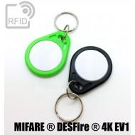 Portachiavi RFID piatto bicolore NFC MIFARE ® DESFire ® 4K E 1