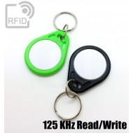 Portachiavi RFID piatto bicolore 125 KHz Read/Write