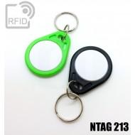 Portachiavi RFID piatto bicolore NFC NTAG213 1