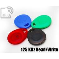 Portachiavi tag RFID bombato Read/Write 125 Khz