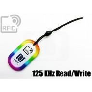 Portachiavi RFID rettangolare Read/Write 125 KHz