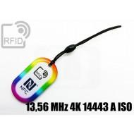 Portachiavi RFID rettangolare 13,56 MHz 4K 14443 A ISO