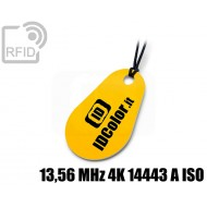 Portachiavi tag RFID goccia 13,56 MHz 4K 14443 A ISO 1