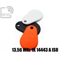 Portachiavi RFID TPU 13,56 MHz 1K 14443 A ISO