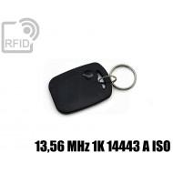 Portachiavi tag RFID rettangolare 13,56 MHz 1K 14443 A ISO