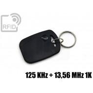 Portachiavi tag RFID rettangolare 125 KHz + 13,56 MHz 1K