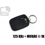 Portachiavi tag RFID rettangolare 125 KHz + MIFARE ® 1K