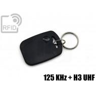 Portachiavi tag RFID rettangolare 125 KHz + H3 UHF
