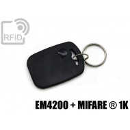 Portachiavi tag RFID rettangolare EM4200 + MIFARE ® 1K