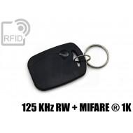 Portachiavi tag RFID rettangolare 125 KHz RW + MIFARE ® 1K