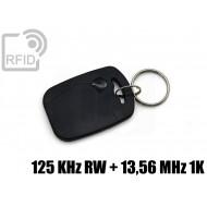 Portachiavi tag RFID rettangolare 125 KHz RW + 13,56 MHz 1K