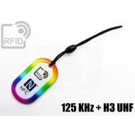 Portachiavi tag RFID goccia 125 KHz + H3 UHF