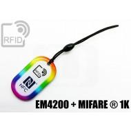 Portachiavi tag RFID goccia EM4200 + MIFARE ® 1K
