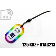 Portachiavi tag RFID goccia 125 KHz + NFC NTAG213