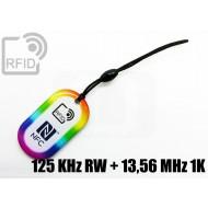 Portachiavi tag RFID goccia 125 KHz RW + 13,56 MHz 1K