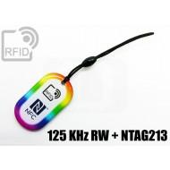 Portachiavi tag RFID goccia NFC 125 KHz RW + NTAG213