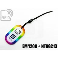 Portachiavi tag RFID goccia EM4200 + NFC NTAG213
