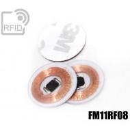 Dischi adesivo RFID trasparenti FM11RF08