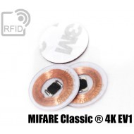 Dischi adesivo RFID trasparenti MIFARE Classic ® 4K EV1