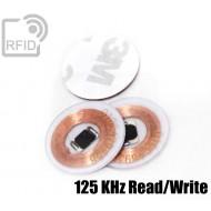 Dischi adesivo RFID trasparenti Read/Write 125 Khz
