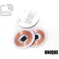 Dischi adesivo RFID trasparenti UNIQUE