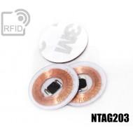 Dischi adesivo RFID trasparenti NFC NTAG203