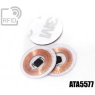 Dischi adesivo RFID trasparenti ATA5577