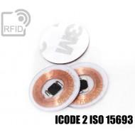 Dischi adesivo RFID trasparenti ICODE 2 ISO 15693