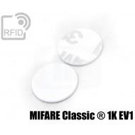 Dischi adesivo RFID PVC bianchi MIFARE Classic ® 1K EV1