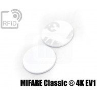 Dischi adesivo RFID PVC bianchi MIFARE Classic ® 4K EV1
