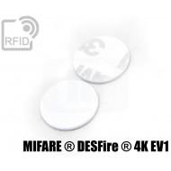 Dischi adesivo RFID PVC bianchi NFC MIFARE ® DESFire ® 4K EV