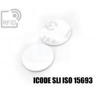 Dischi adesivo RFID PVC bianchi ICODE SLI ISO 15693