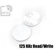Dischi adesivo RFID PVC bianchi 125 KHz Read/Write