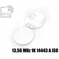 Dischi adesivo RFID PVC bianchi 13,56 MHz 1K 14443 A ISO