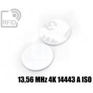Dischi adesivo RFID PVC bianchi 13,56 MHz 4K 14443 A ISO