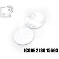 Dischi adesivo RFID PVC bianchi ICODE 2 ISO 15693 1
