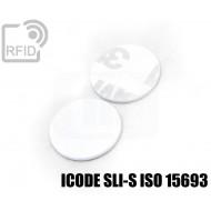 Dischi adesivo RFID PVC bianchi ICODE SLI-S ISO 15693 1