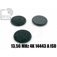 Dischi RFID fibra vetro 13,56 MHz 4K 14443 A ISO